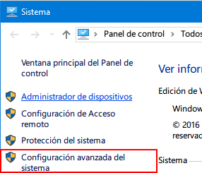 Como activar restaurar sistema en windows 10