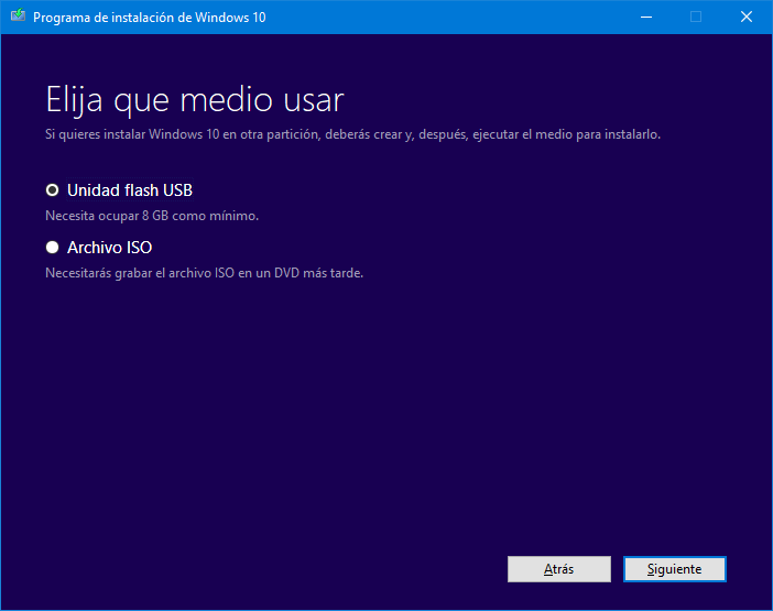 Instalar Windows 10 desde USB